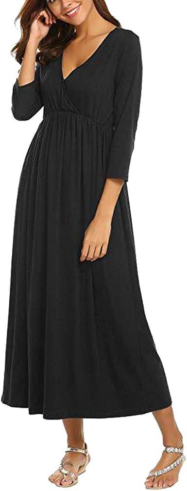 Gagacity Camisa de Dormir Lactancia y Maternidad Vestido Camisón Maxi: Amazon.es: Ropa y accesorios