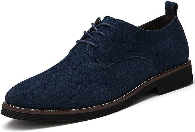 Hombres Oxfords Gamuza Cuero Hombres Casual Zapatos