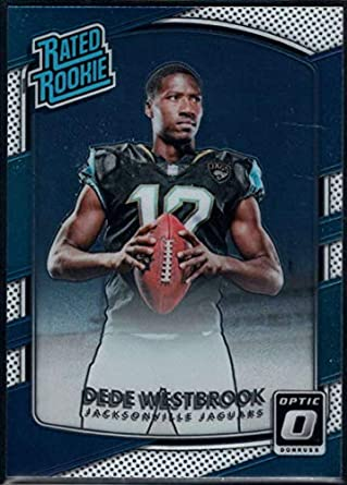 c7a3af238 Football NFL 2017 Donruss Optic  187 Dede Westbrook Rated Rookie Jaguars
