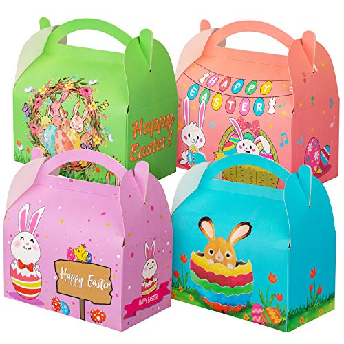 Easter Treat Box Egg Bunny Party Favor Decorations Bag for Kids - Easter Box Treat