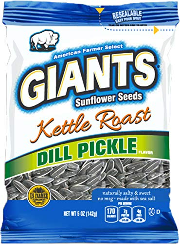 (GIANTS Sunflower Seeds Dill Pickle Kettle Roast Flavor, 5 Ounce Bags (Pack of)
