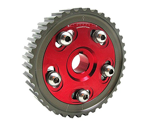 Sol SOHC D16 D15 D13 D Series Engine Adjustable Cam Gear-Red ()