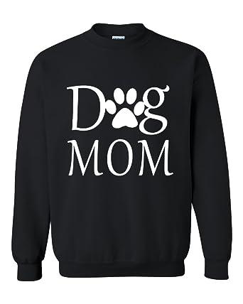 fddc58a38c14 Acacia Dog Mom - Paw Shelter Rescue Animal Unisex Crewneck Sweatshirt Small  Black
