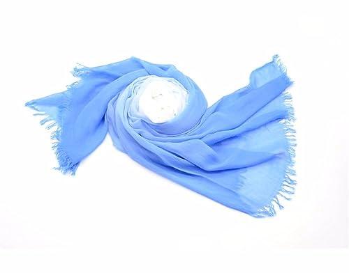 yall Dama Elegante Bufandas Borlas Chales Bufandas Suave Invierno Y De Invierno, Azul 95X190 Cm.