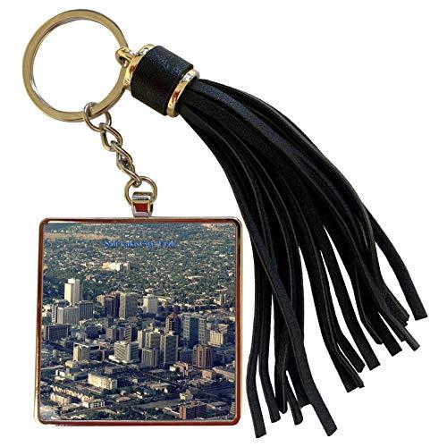 3dRose Sandy Mertens Utah - Salt Lake City Panorama View - Tassel Key Chain (tkc_156558_1)