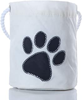 product image for Sea Bags Recycled Sail Cloth Paw Print Bucket Bag Black