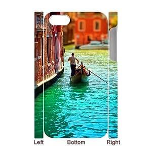 Iphone 4,4S Venice boat 3D Art Print Design Phone Back Case Hard Shell Protection LK094731