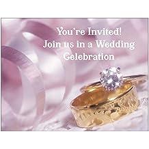 Wedding Rings Wedding Invitation - 50/Pack