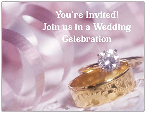 Wedding Rings Wedding Invitation – 50/Pack