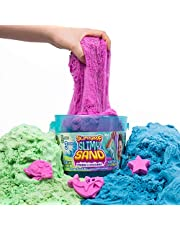 SLIMYSAND Bucket, Blue, Green and Purple, 5 Pounds, 3 Molds