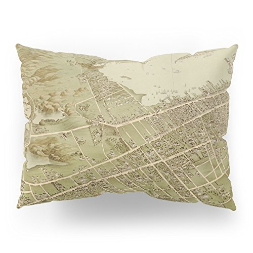 Society6 Vintage Pictorial Map Of Newport RI (1878) Pillow Sham Standard (20