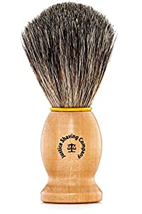 JSC Pure Badger Shaving Brush - Badger Hair Shave Brush by Justice Shaving Company