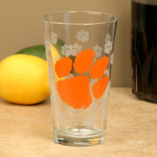 (Boelter Clemson Tigers 16 oz. Satin Etch Pint Glass)