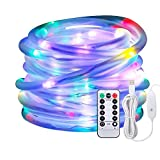Led Rope Lights,Afufu 10M String Lights USB Powered,100 LED Tube Lights Outdoor with 8 Modes,IP65 Waterproof Strip Lights Fairy Copper Wire for Christmas Decorations, Tree Wedding Party Path Garden Patio (Multi-colored)