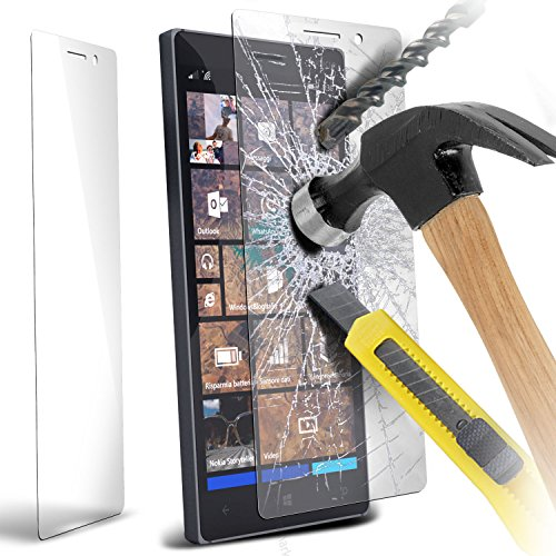 Fone-Case ( Pack Of 3 ) Nokia Lumia 830 Case Brand New Luxury Tempered Glass Crystal Clear LCD Screen Protectors Packs With Polishing Cloth & Application Card
