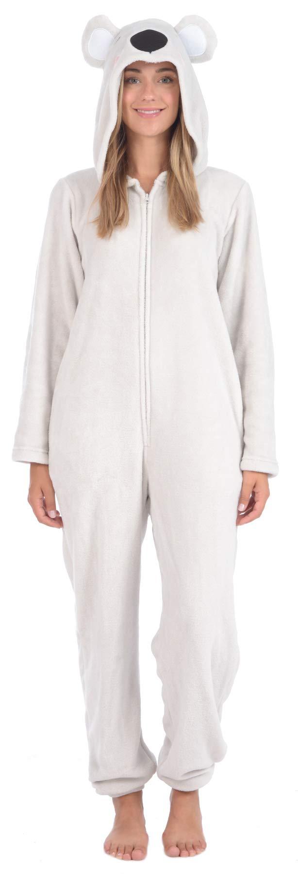 Body Candy Women's Plush Adult Animal Hood Onesie Pajama (Koala, X-Large) by Body Candy Loungewear