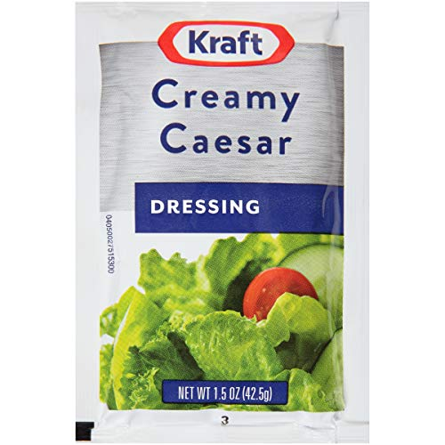 - Kraft Creamy Caesar Dressing (1.5 oz Packets, Pack of 60)