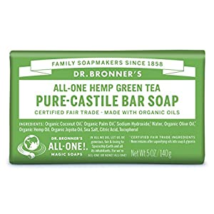 Dr Bronner's Organic Green Tea Soap Bar, 140...