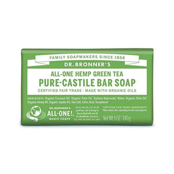 Dr Bronner's Organic Green Tea Soap Bar, 140 g