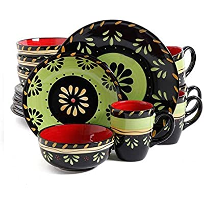 Click for 16 Piece Dinnerware Set with Floral Design