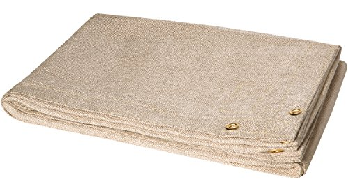 Steiner 372-6X8 Tough Guard 18-Ounce Heat Cleaned Fiberglass Welding Blanket, Tan, 6' x 8'