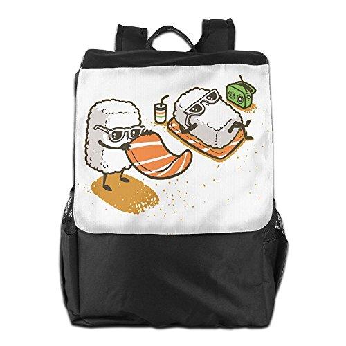 Sushi Maker Costume (Olasy Summer Sushi Messenger Bag Shoulder Backpack Travel Hiking Rucksack For Womens Mens Boys Girls School Bookbags One Size)
