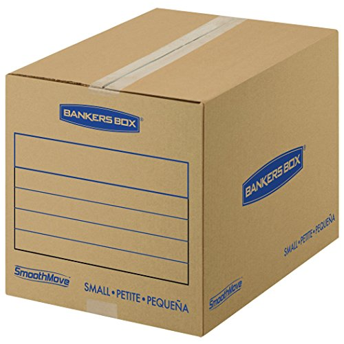 - Bankers Box SmoothMove Basic Moving Boxes, Small, 16 x 12 x 12 Inches, 15 Pack (7713802)