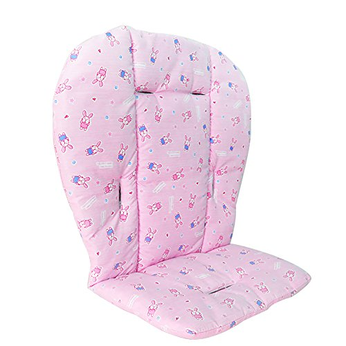 - Leiyini Baby High Chair Cover Pad Soft Cotton Infant Stroller Seat Cushion Pushchair Liner Mat (Pink)