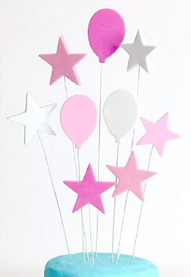 Kuchenstecker Tortenstecker Geburtstag Deko 1 Cake Topper Happy Birthday Pink