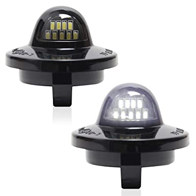 A&K Led License Plate Light for Ford F-150 F-250 F-350 F-450 F-550 F-Series Superduty Bronco Ranger Explorer Excursion Expedition,Lincoln Mark LT,License Plate Lamp Assembly with 9SMD,6500K,White,2Pcs: Automotive