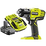 Ryobi P261 18V ONE+ 3-Speed ½ in. Cordless Impact Wrench Kit (Bundle)