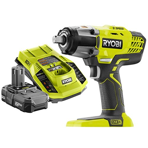 Ryobi P261 18V ONE+ 3-Speed ½ in. Cordless Impact Wrench Ki