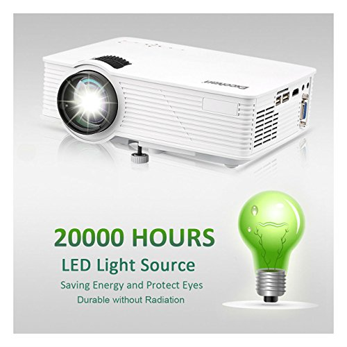 Portable 7000 Lumens 3D LED HD 1080p Projector Home Cinema HDMI USB SD VGA - The Mall Boulevard