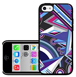 Cool Purple and Pink and Blue Design Hard Snap on Case (iPhone 5c)