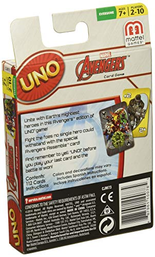 Mattel Games Marvel Avengers UNO Card Game