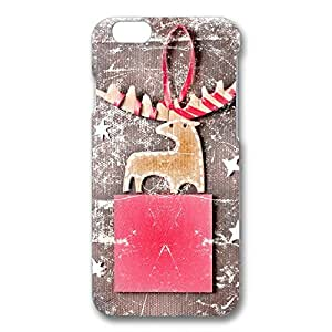 Custom Reindeer Picture Phone Case 3D Hard Plastic Back Case Cover For Iphone 6/6S