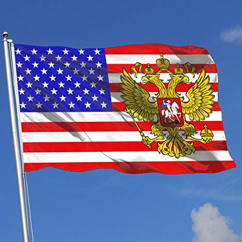 QphonesFlag USA Flag of Russia's Coat of Arms Flag 3x5-Flags 90x150CM-Banner 3'x5' FT ()