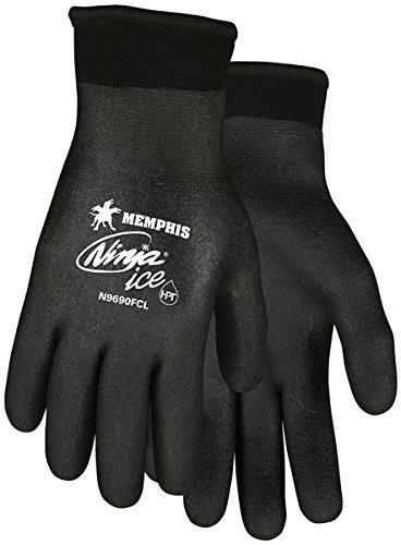 N9690FCM Memphis Ninja ICE FC Black HPT Foam Sponge Fully Work Glove. (6 Pairs)