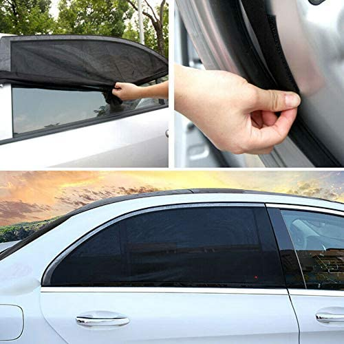 Fanville Car Window Sun Shades for Baby Kids Car Side Window Sun Shade UV Protection Anti Mosquito Window Breathable Mesh Net Universal 2 Pack for Front//Rear Window