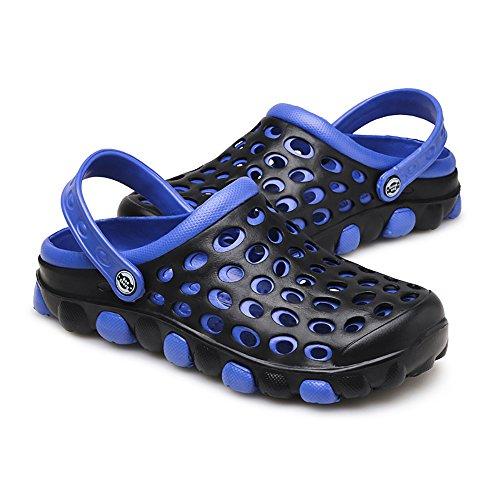 Cyiecw Unisex Breathable Garden Clogs Outdoor Walking Slippers Anti-Slip Beach Shower Sandals (9 US Women / 7 US Men, Blue)