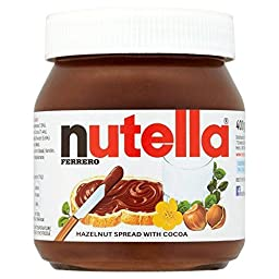 Nutella - Hazelnut Spread with Cocoa - 400g - Pack of 2 (400g x 2)