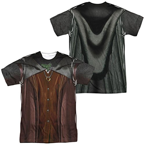 Trevco Lord Of The Rings- Frodo Costume Tee (Front/Back) T-Shirt Size (Frodo Costume Ideas)