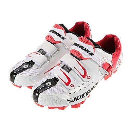 Docooler Zapatos del Alpinismo de los Hombres Zapatos de Ciclismo Zapatos de Carreras Profesionales blanco
