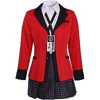 COUCOU Age Jabami Yumeko Cosplay Costume Suit for Kakegurui Adult Women's School JK Uniform Pleated Skirt Red