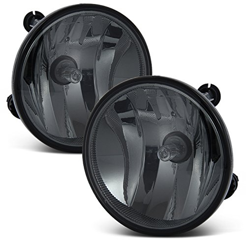 For 2007-2011 Chevy Avalanche Suburban Escape Tahoe Yukon Bumper Smoke Fog Lights w/Bulbs Replacement