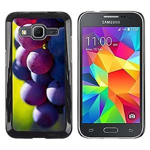 TopCaseStore / la caja del caucho duro de la cubierta de protección de la piel - Fruit Macro Dark Grape - Samsung Galaxy Core Prime SM-G360