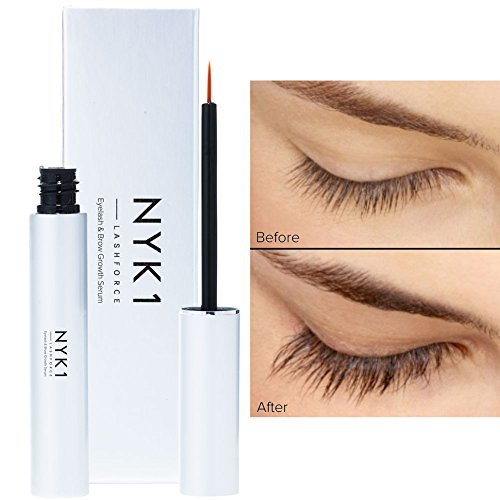 AMAZING Lash Force Eyelash Growth Serum by NYK1 Intense Lash and Brow Growth Serum. 8ml. THE ONE THAT REALLY WORKS. Extreme Eyebrows and Eyelashes enhancer. Rapid lash growth treatment that works