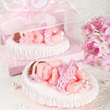 Premium - Adorable Ballet Baby Girl Birthday Candle Cake Topper Attached with Greeting Card Baby Shower Favors (in Gift Box) Cake Topper