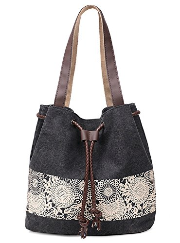 Canvas Diaper Bag In Tan And Black - 6