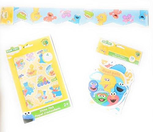 Teaching Supplies Sesame Street Bulletin Board Border Set, Die Cut Shape, Stickers, Classroom Decorations Preschool, Kindergarten,Elementary